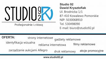 STUDIO 92 wizytówka